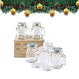 Smith Mason Jars 6 x 16oz Einmachglas Becher mit Schraubdeckel Deckel mit Gummidichtung, macht...