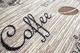 Teppich Modern Flachgewebe Gel Läufer Küchenteppich Küchenläufer Braun Beige Schwarz mit Schriftzug Coffee Cappuccino Espresso Latte Größe 80×150 cm - 5