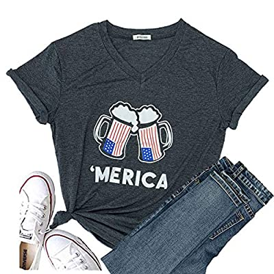Hellopopgo Women Faith Family Freedom USA American Flag Lips Shirt Short Sleeve Graphic Tees Funny T Shirts Summer Tops