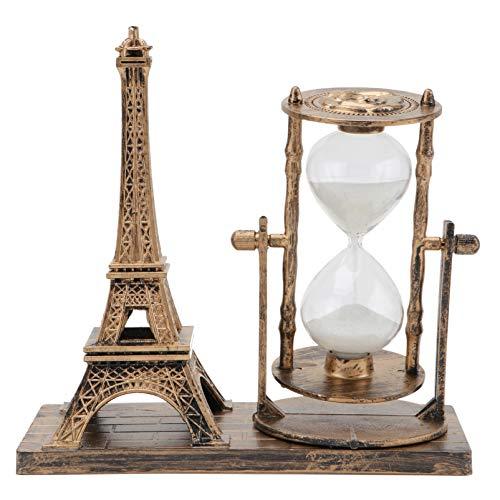VICASKY Reloj de Arena Reloj de Arena con Soporte Temporizadores de Reloj de Arena Adornos de La Torre Eiffel Cepillarse Los Dientes Hora del Té Juguete Decoraciones para El Hogar