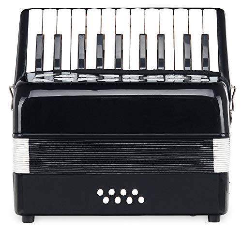 Classic Cantabile Secondo Junior 8-Bass Akkordeon (22 Diskanttasten, 8-Basstasten, inkl. Tragerriemen und Gigbag) schwarz
