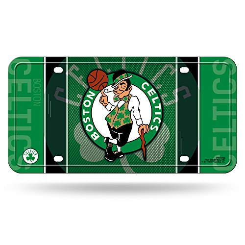 NBA Rico Industries Metal License Plate Tag, Boston Celtics