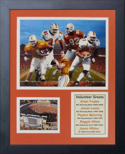 Legends Never Die Tennessee Volunteers Greats Framed Photo Collage, 11 by 14-Inch
