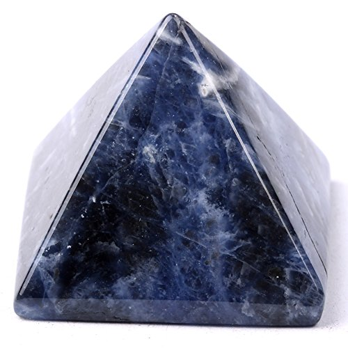 pyramid-finest Big Edelstein 2,5cm geschnitzt Pyramide Crystal Healing Crafts Sodalite