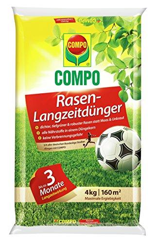 Preisvergleich Produktbild COMPO Rasen-Langzeitdünger,  3 Monate Langzeitwirkung,  Feingranulat,  4 kg,  160 m²