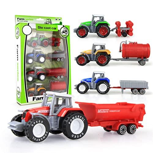 Smosyo 4 Stück Legierung Traktor...