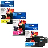 Brother LC71 Ink Cartridge (Cyan, Magenta, Yellow, 3-Pack) in Retail Packaging