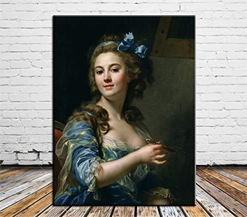 DIY Malen nach Zahlen Schöne Frau Berühmtheit Mit Pinsel und Acrylfarbe nach Zahlen malen für Erwachsene Gemälde für Wohnzimmer Geeignet für Wohnzimmerdekoration für Kind40x50cm(Kein Rahmen)