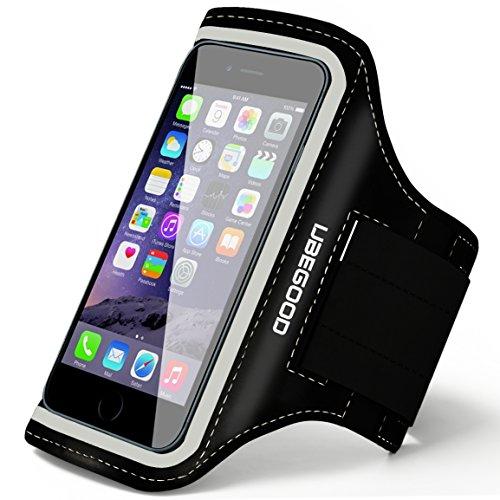 UBEGOOD Antiscivolo Fascia Braccio Sports Armband per Jogging con Velcro Strap Regolabile & Pocket Chiave Anche Adatta iPhone 6S/6/5S/5/5C, Galaxy S6 edge/S6/S5/S4