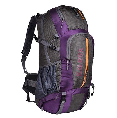 50L sacs alpinisme professionnel voyage sac à dos ventilation équipement de camping , purple