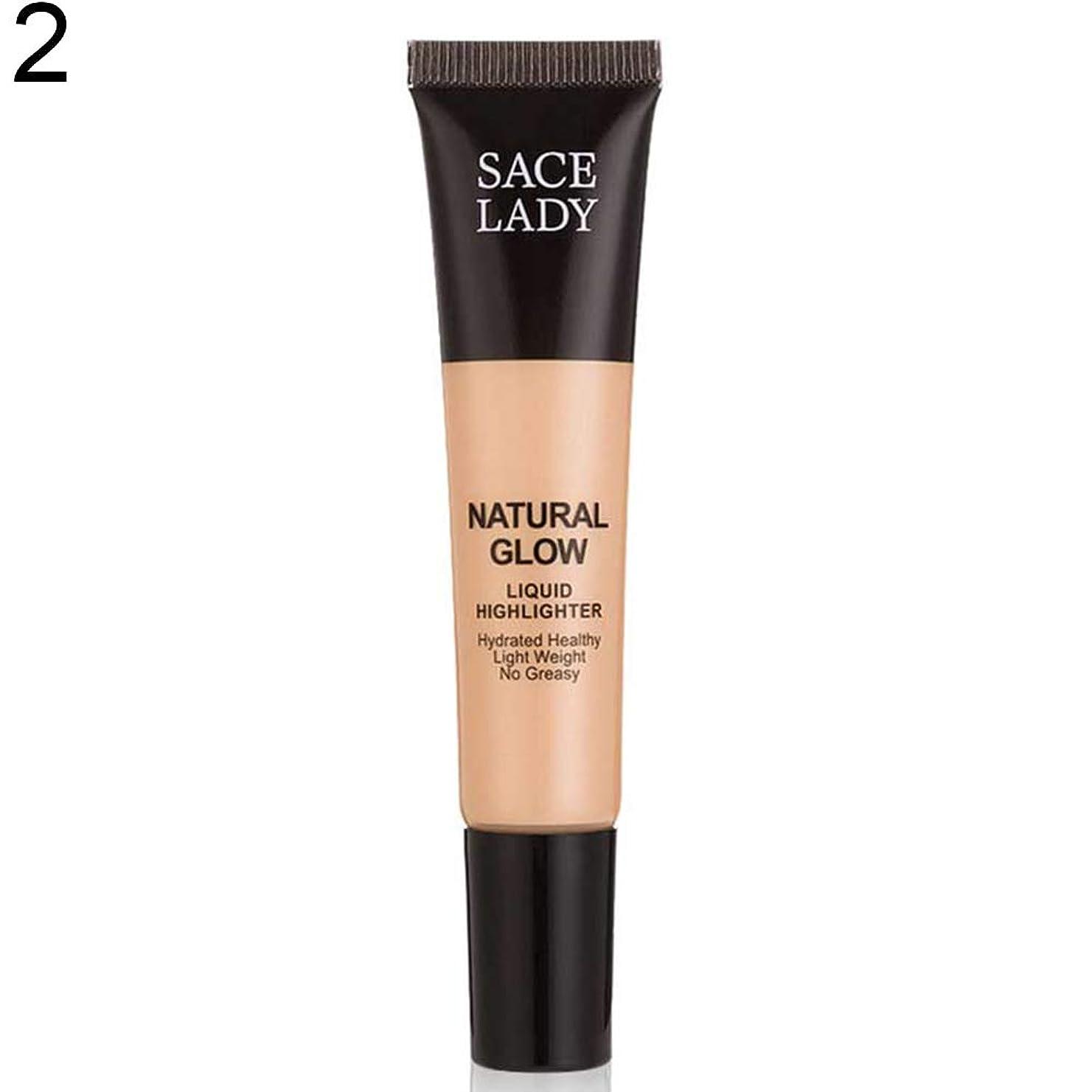 百科事典気晴らし順応性SACE LADY液体蛍光ペン水和非脂っこい化粧顔ブロンザー - 2#
