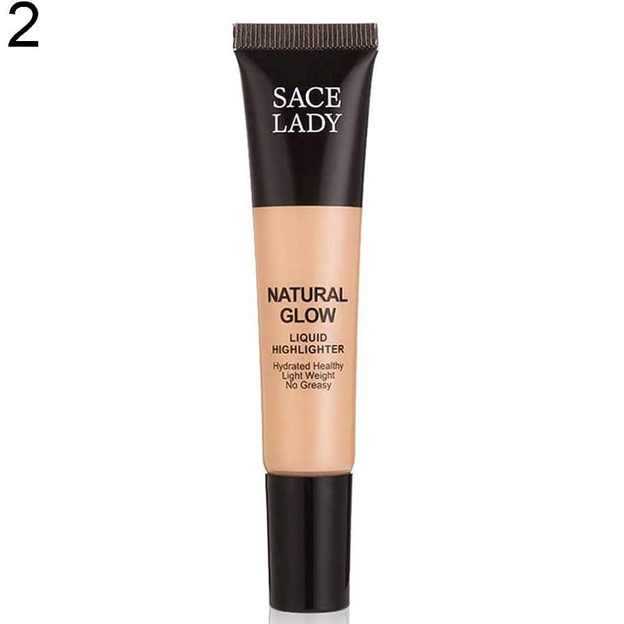 寺院順番再集計SACE LADY液体蛍光ペン水和非脂っこい化粧顔ブロンザー - 2#