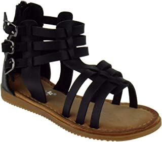 48f6f4a9647 Link Harlow Little Girls Adjustable Buckle Strappy Gladiator Open Toe  Platform Sandals