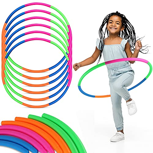 6 Pack Toy Hoop Bundle Pack - Snap Together Detachable Adjustable...