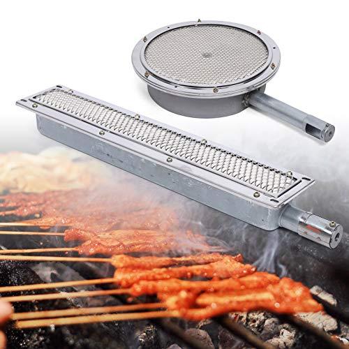 Kaibrite BBQ Grill Infrarot Keramikbrenner,Seitenbrenner Keramikheizung,Kochen Barbecue,Gasgrill,aus Edelstahl + Eisen (C)