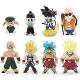 Dragon Ball figuras Goku Cake Topper Anime Dibujos Animados Juguetes Modelo decoración de la Torta C...