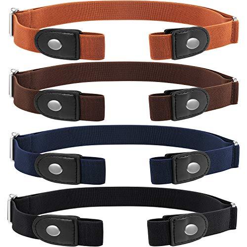 4 Piezas de Cinturón Elástico sin Hebilla Cinturón Invisi