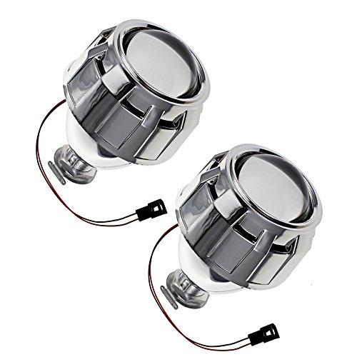 justech 2x Kit de cubierta del faro Lente del proyector 2,5'HID faros de xenón bi–Haz cubiertas personalizadas para coche h1H4H7bombillas para vehículos con volante a la derecha