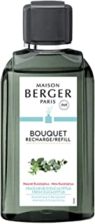 MAISON BERGER 200ml/6.76 fl. oz Fresh Eucalyptus Reed Diffuser Refill, Clear