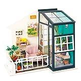Puppenhaus Sun Room Modellierung DIY Set Holz Werkzeugtasche Handgefertigte Puppenhaus Spielzeug...