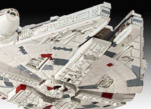 Revell Modellbausatz Star Wars Millennium Falcon im Maßstab 1:241, Level 3, originalgetreue Nachbildung mit vielen Details, Model Set mit Basiszubehör, einfaches Kleben und Bemalen, 63600
