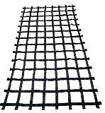 FONG 11 ft X 6 ft Climbing Cargo Net Black (132 inch x 72 inch) - Cargo Net for Climbing Adults - Climbing Net for Swingset - Climbing Net Outdoor