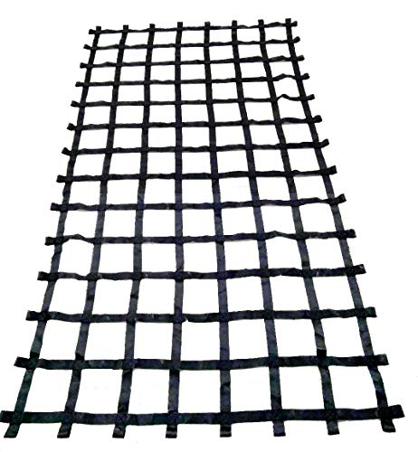 FONG 11 ft X 6 ft Climbing Cargo Net Black (132 inch x 72 inch) - Cargo Net for Climbing Adults - Climbing Net for Swingset - Climbing Net Outdoor