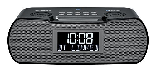Sangean Compact Bluetooth AM/FM Dual Alarm Clock Radio with Large Easy to Read Backlit LCD Display