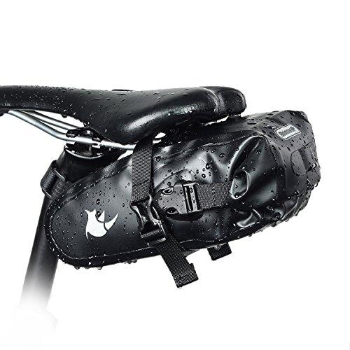 WILDKEN Bolsa de Sillín de Bicicleta Bolsa de Asiento de Bicicleta Impermeable de Tubo Superior para Bicicletas de montaña Bicicletas de Carrera (1.5L)