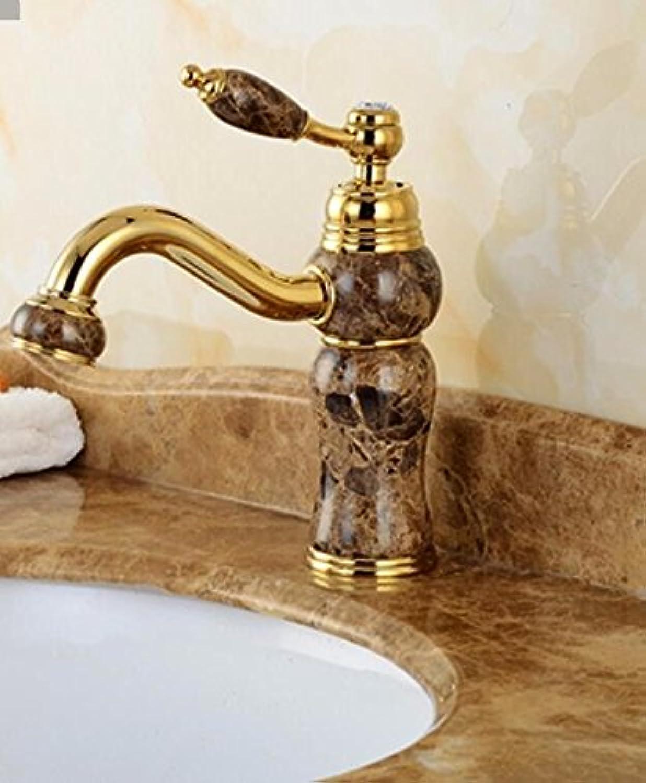 S.TWL.E Küche Küchenarmatur Waschtischarmatur Mischbatterie Spülbecken Armatur Armatur Wasserhahn Bad Golden Sink Hot and Cold Marble Copper Gold Taps