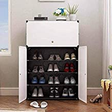 Orril Plastic Shoe Rack(Black)