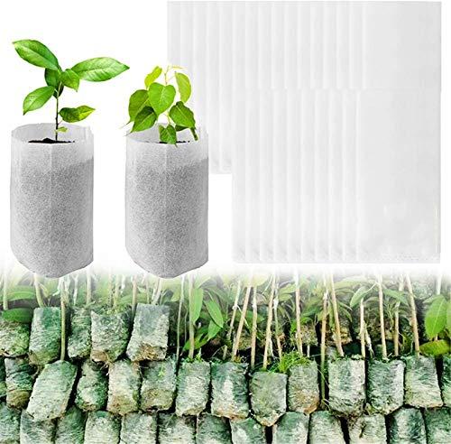 100 Piezas Grandes Bolsas De Cultivo De Plantas Biodegradables, Macetas De Vivero No Tejidas, Bolsa De Nutrientes Para El Inicio De La Planta, Suministro Para El Jardín Del Hogar Espesar 20x30