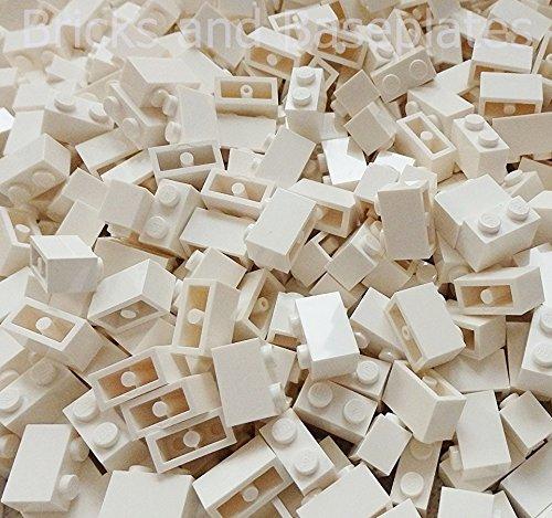 """50 Stück LEGO \""""Stein 1x2 Noppen\"""" in Weiss"""