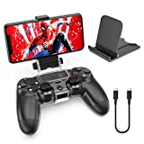 OIVO PS4 Controller Clip Mount, Mobile Phone Clamp Bracket Holder with Adjustable Stand Compatible with Dualshock 4 /PS4 Slim/PS4 Pro Controllers