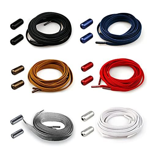 Anyingkai Cordones Elásticos Sin Nudo con Hebilla Metal,Cordones Elásticos sin Nudo para Zapatillas,Cordones Magneticos,Cordones Elásticos para Zapatillas,Cordones Elásticos (color)