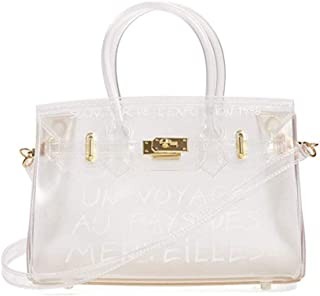 Lady jelly bag, Women Clear Bag Jelly PVC Purse Transparent Handbag with shoulder bag