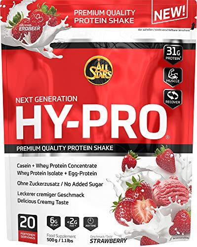All Stars Hy-Pro Protein, Erdbeer, 1er Pack (1 x 500 g)