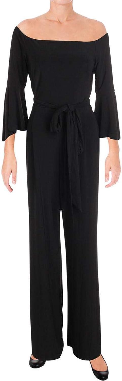 Lauren Ralph Lauren Womens OffTheShoulder Boatneck Jumpsuit Black 12