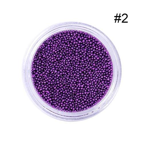 Petites perles à ongles en acier inoxydable 0,6 mm - Pour décoration artistique - Noir rose doré - Outil de manucure - 5 g 0
