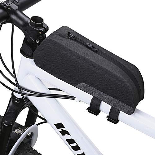 Beaspire Fahrradtasche Fahrrad Oberrohrtasche Wasserdicht Rahmentasche für Mountainbike Rennrad (Square, 24.5 x 8 x 7)