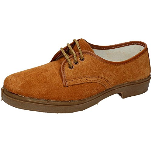 CANOS 052 Zapato Serraje Hombre Calzado Trabajo Tostado 41