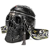 KIISY skull purses handbags for women Shoulder bag,skull Crossbody purse Gothic bag purses holiday party gift (Black)