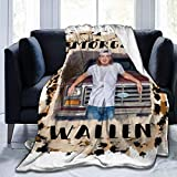 Morgan Wallen Blankets Ultra-Soft Flannel Fleece Blanket Bed Throws for Couch, Bed, Sofa 40'×50'