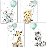 artpin® Poster Kinderzimmer Deko - Bilder Babyzimmer Mint