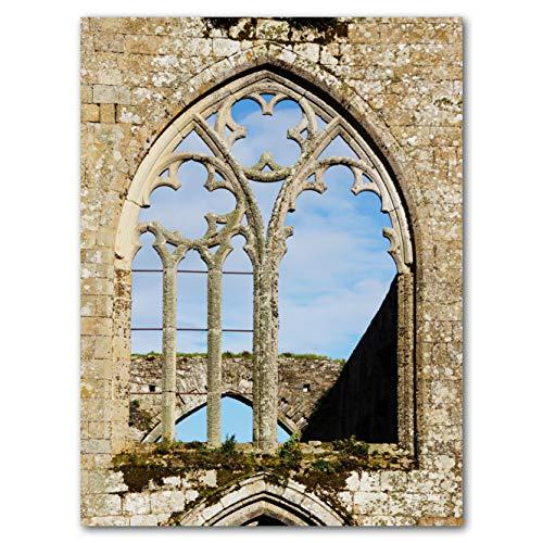 Glücksvilla Abbaye Beauport - XXL Bild/Wandbild, Größe: 60 x 80 cm Hoch-Format, Digital-Druck auf...