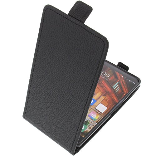 foto-kontor Funda para Elephone P9000 Lite Protectora Tipo Flip para móvil Negra