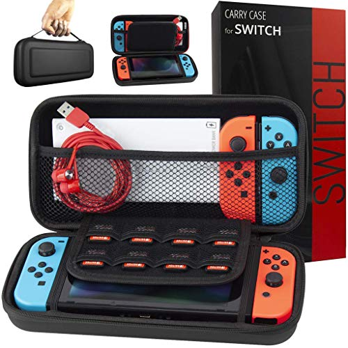 Orzly Carry Case Compatible with Nintendo Switch - Slate Grey Protective Hard Portable Travel Carry Case Shell Pouch for Nintendo Switch Console & Accessories