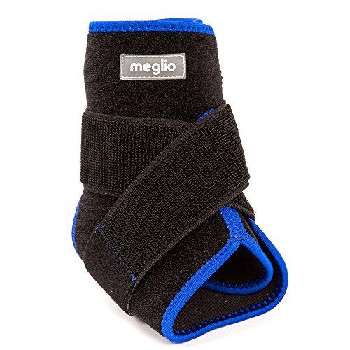 MEGLIO Tobillera de Neopreno Apoyo–con diseño de Transpirable–Soporta Durante el Deporte y Running–actúa como un para ligamento Cruzado Anterior daños y Debilidad de Aquiles–Talla única