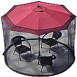 KDOAE Mosquito de Sombrilla de jardín Jardín Parasol Net Garden MOSQ-UITO Cubierta Netting Canopy Mesh Otomiciones para Camping al Aire Libre para Acampar en el Jardín al Aire Libre