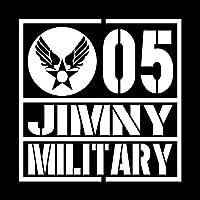 ミリタリー JIMNY ジムニー カッティング ステッカー ホワイト 白